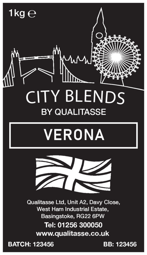 VERONA CITY - ITALIAN STYLE COFFEE BEANS Roasted in the UK